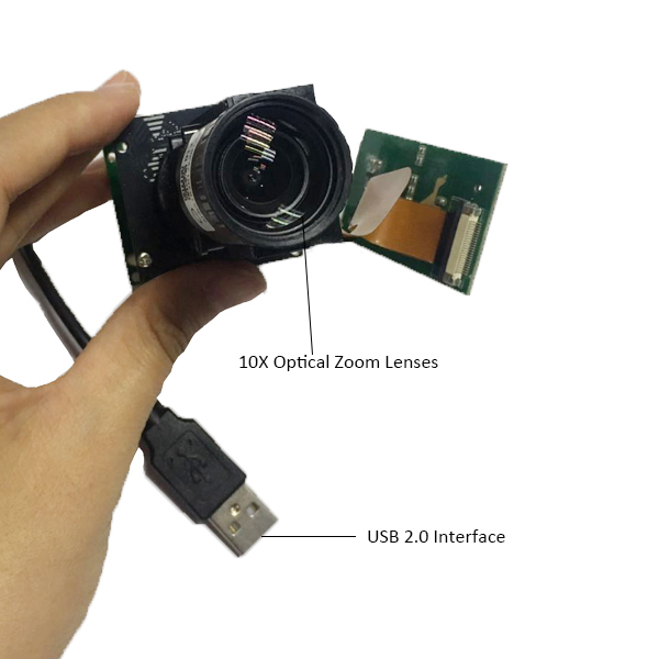 2 Optical zoom IMX179 8MP Aotu Focus USB Camera Module